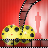 Oscar awards. Illustration of the red carpet and Oscar awards Royalty Free Stock Images
