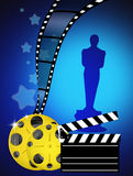 Oscar awards. Illustration of the night of the Oscars Royalty Free Stock Image