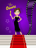 The Oscar awards. Illustration of the night for the Oscars Royalty Free Stock Photo