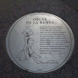 Oscar de la Renta Plaque Royalty Free Stock Image