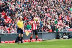 Oscar de Marcos and Alonso Fernandez, soccer referee Royalty Free Stock Photo