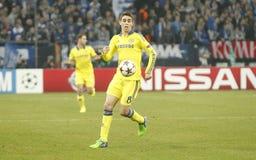 Oscar FC Schalke v FC Chelsea 8eme Final Champion League Stock Photo