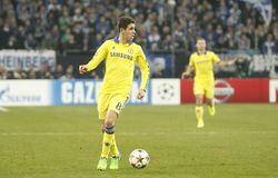 Oscar FC Schalke v FC Chelsea 8eme Final Champion League Stock Image
