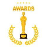 Oscar film festival awards Royalty Free Stock Photography