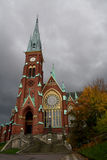 Oscar Frederiks church. On a cloudy day Royalty Free Stock Photos