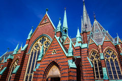 Oscar Fredrik Church - Gothenburg, Sweden. stock photography