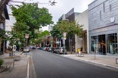 Oscar Freire en utsmyckad shoppinggata - Sao Paulo, Brasilien fotografering för bildbyråer