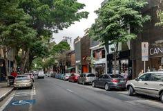 Oscar Freire, a fancy shopping street - Sao Paulo, Brazil royalty free stock image