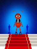 The Oscar. Funny illustration of Red Carpet Stock Photo