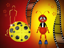 The Oscar. Funny illustration of Red Carpet Stock Photography