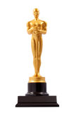Oscar. Gold Man statue over white