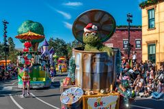 Oscar the Grouch and Elmo in Sesame Street Christmas Parade at Seaworld 30