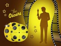 The Oscar. Illustration of the Oscar Award for Cinema Stock Image