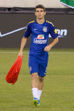 Oscar. This image shows Brazil and ChelseaFC midfielder and superstar Oscar during the 2014 Brazilian Global tour vs. Ecuador at MetLife stadium New Jersey on stock photo