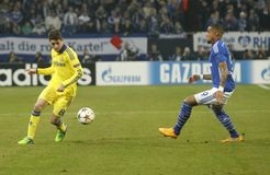 Oscar and Kevin-Prince Boateng FC Schalke v FC Chelsea 8eme Final Champion League Royalty Free Stock Photography