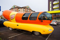 Oscar Mayer Wienermobile at University of Oregon Royalty Free Stock Photo