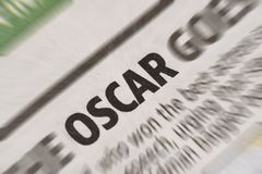 Oscar News rubrik i tidning Arkivbilder