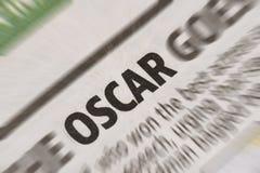 Oscar News-Schlagzeile in der Zeitung Stockbilder