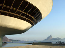Oscar Niemeyer's Niterói Contemporary Art Museum Royalty Free Stock Photography