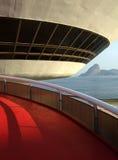 Oscar Niemeyerâs Niterà ³ i het Eigentijdse Museum van de Kunst Stock Afbeelding
