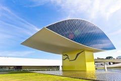 Oscar Niemeyer Museu, Curitiba, el Brasil Imagen de archivo libre de regalías