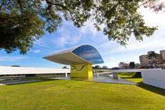 Oscar Niemeyer Museu, Curitiba, el Brasil Fotos de archivo