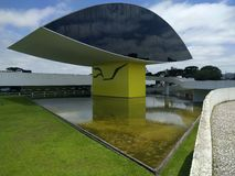 Oscar Niemeyer Museum. Also known as Novo Museu, or eye Museum in Curitiba, Parana, Brazil Royalty Free Stock Images