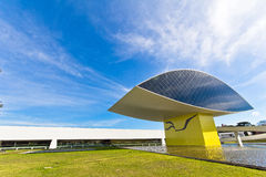 Oscar Niemeyer Museum. The big eye, building that belongs to Oscar Niemeyer Museum, Curitiba, Brazil stock images