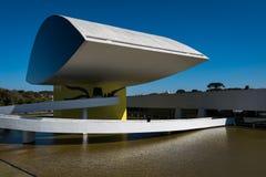 Oscar Niemeyer Museum em Curitiba foto de stock