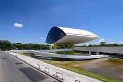 Oscar Niemeyer Museum i Curitiba royaltyfria foton