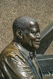 Oscar Peterson Statue city of Ottawa. Oscar Peterson 1925-2007 has been described as one of the greatest piano players of all time; his mark on the jazz world royalty free stock image