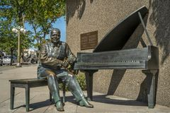 Oscar Peterson Statue city of Ottawa. Oscar Peterson 1925-2007 has been described as one of the greatest piano players of all time; his mark on the jazz world stock photo