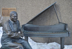 Oscar Peterson statue in Ottawa Canada. A statue of famous Jazz musician Oscar Peterson in Ottawa, Canada outside the National Arts Centre stock photo