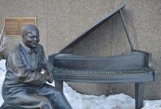 Oscar Peterson statue in Ottawa Canada stock photo