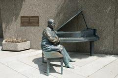 Oscar Peterson Statue - Ottawa - Kanada Fotografering för Bildbyråer
