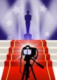 Oscar red carpet. Illustration of the red carpet and Oscar awards Stock Photos