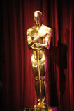 Oscar Statue. At the Samuel Goldwyn Theater at the Academy of Motion Picture Arts & Sciences in Beverly Hills where the nominees for the 80th Academy Awards were Stock Image