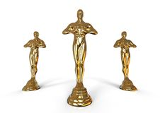 Oscar statue concept Royalty Free Stock Image