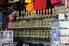 Oscar Statue Replica Souvenirs Stock Photo