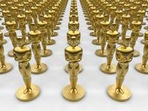 Oscar-Statuensammlung lizenzfreie abbildung
