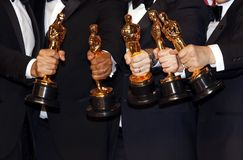 Oscar Statues Winners stock images
