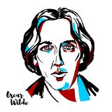 Oscar Wilde Portrait royalty free illustration