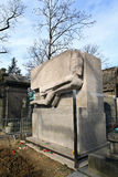 Oscar Wilde grave. Oscar Wilde grave in cemetery Pere Lachaise Stock Image