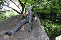 Oscar Wilde Ireland. Statue rock poet Oscar Wilde Irish Ireland royalty free stock photos