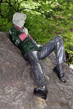 Oscar Wilde Ireland. Statue rock poet Oscar Wilde Irish Ireland royalty free stock images
