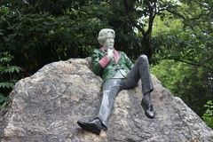 Oscar Wilde monument. In Dublin in Marrion park Royalty Free Stock Image