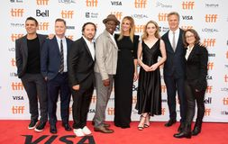 Film Crew & cast with Julia Roberts at the premiere of Ben Is Back, Toronto International Film Festival 2018. Oscar winner actress Julia Roberts on the red Stock Photos