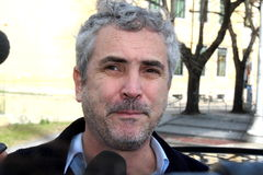 The oscar-winning director alfonso Cuarón. Celebrated by the Mayor and the City Council of the municipality of Pietrasanta Italy on his return from royalty free stock photo
