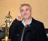 The oscar-winning director alfonso Cuarón. Celebrated by the Mayor and the City Council of the municipality of Pietrasanta Italy on his return from stock image