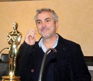 The oscar-winning director alfonso Cuarón. Celebrated by the Mayor and the City Council of the municipality of Pietrasanta Italy on his return from royalty free stock images